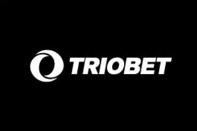 Triobet logo mustal taustal