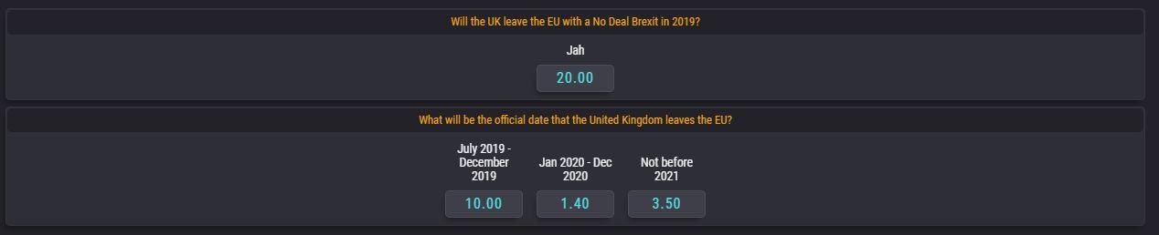 brexit koefitsendid