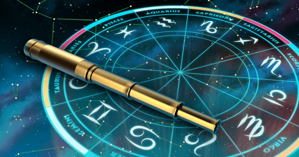 vaaderpass ja horoskoop tähetaevas taustaks