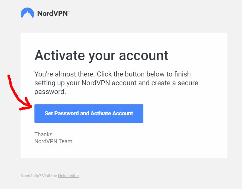 activate VPN account