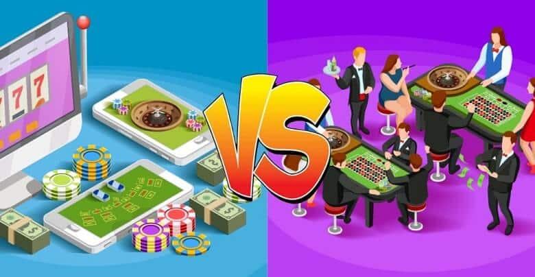 azartspēles tiešsaistē vai klātienē